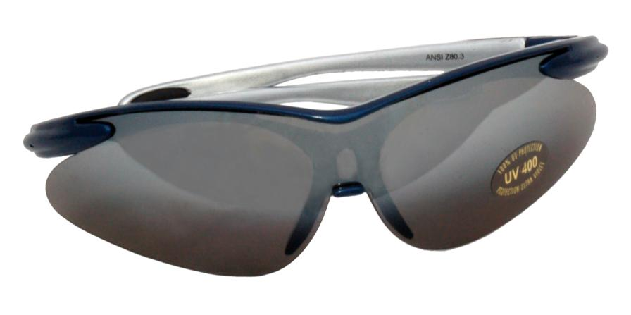 Zenport Safety Glasses SG2681 Stylish Blue Curved, UV Treated/Coated, Eye Protection