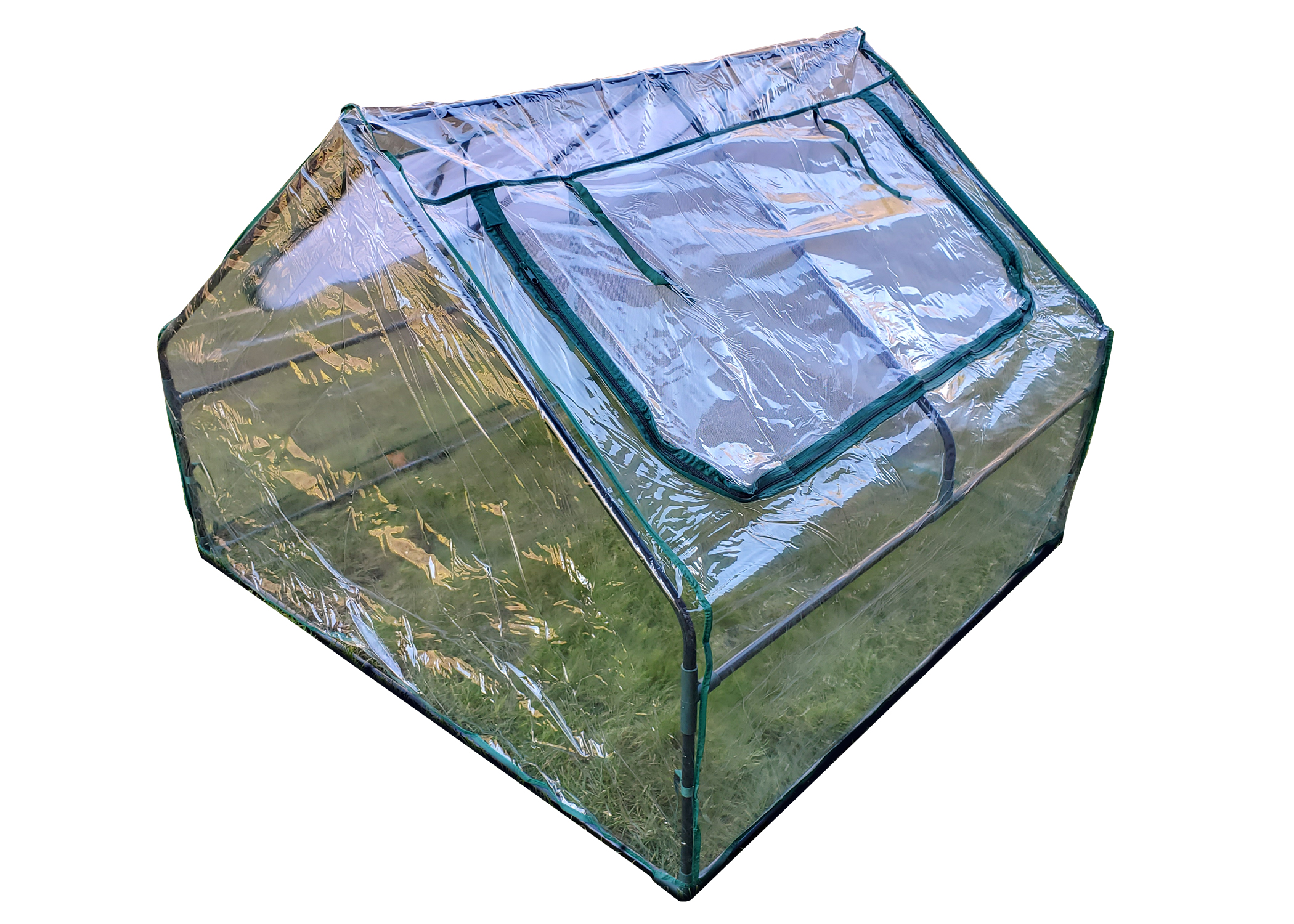 Zenport Mini Greenhouse SH3214A Greenhouse, 4-Feet by 4-Feet by 36-Inch