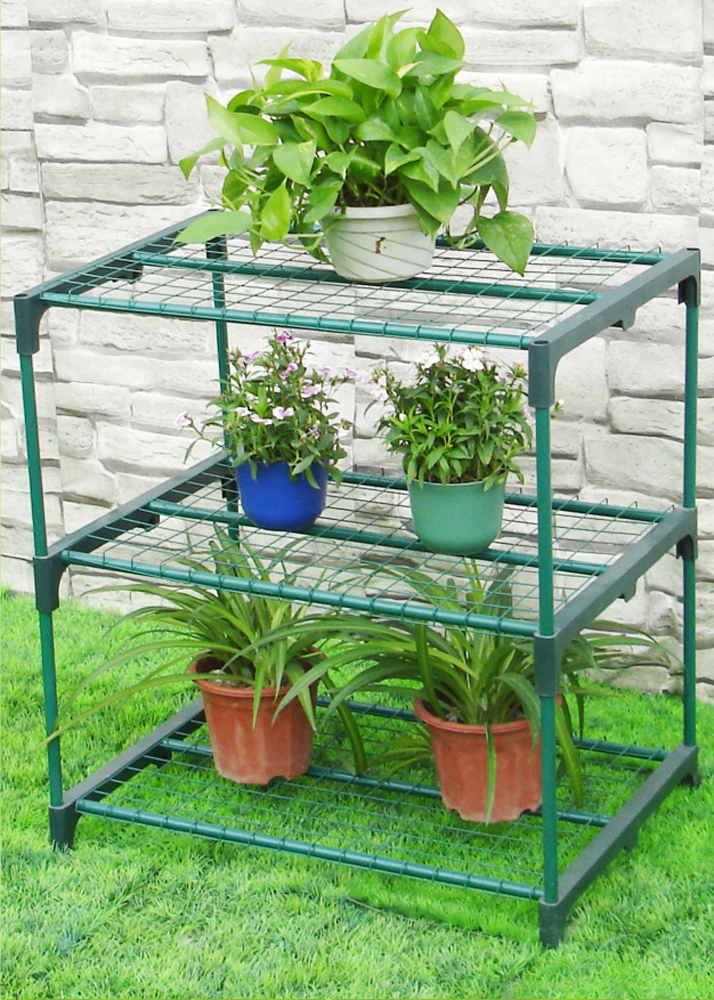 Zenport Shelving Station SH3222A Three Tier Greenhouse Plant Growing