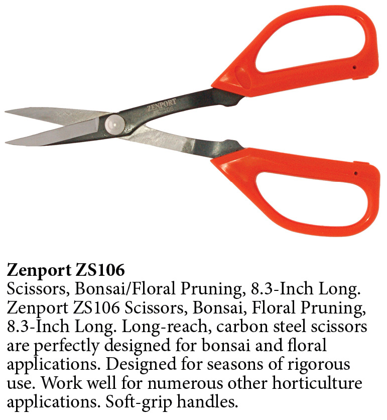 Zenport Scissors ZS106 Scissors, Bonsai, Floral Pruning, 8.3-Inch Long