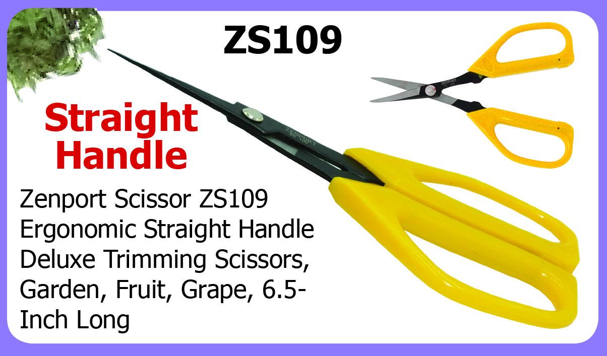 Zenport Scissors ZS109 Deluxe Scissors, Garden, Fruit, Grape, 6.5-Inch Long