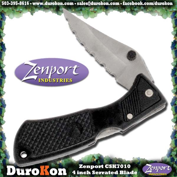 Zenport Folding Knife CSK7010 4 inch Serrated Folding Knife