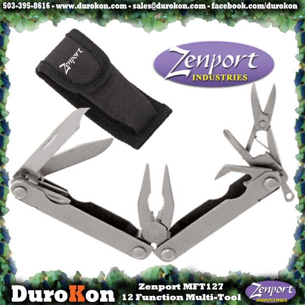 Zenport Multi-Tool MFT27 12-Function Mini Multi-Tool w/Case